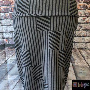 LuLaRoe Black/Gray Cassie Pencil Skirt Size (6/8)